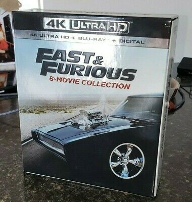 Fast and Furious 4K: 8-Movie Collection UHD - CASE ONLY - NO DISCS - NO CODE