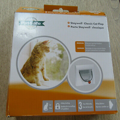 PetSafe - Staywell Classic Cat Flap - 919EF - 4 Way Lock - Without Tunnel.
