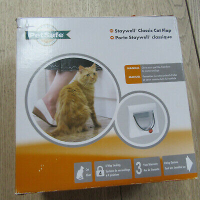 PetSafe - Staywell Classic Cat Flap - 917EF - 4 Way Lock - With Tunnel.