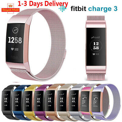 Fitbit Charge 3 Strap Replacement Milanese Band Stainless Steel Magnet UK Seller