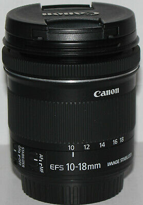 Canon EF-S 10-18mm f/4.5-5.6 IS STM in pristine condition [but no box]