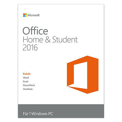 Microsoft Office Home and Student 2016 Vollversion für 32/64 BIT Multilingual
