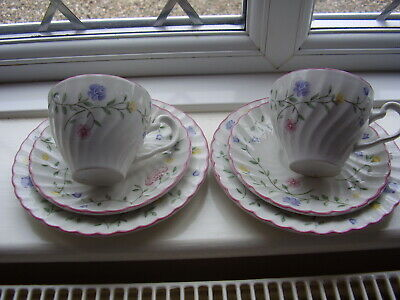 """2 X Trio,s (cups,saucers + plates ) """"Summer Chintz"""" Pottery by Johnson Brothers"""