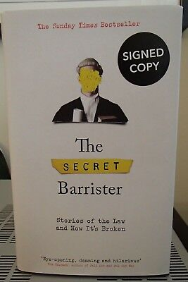 The Secret Barrister [Stories of the Law] Signed Hardback HB Edition
