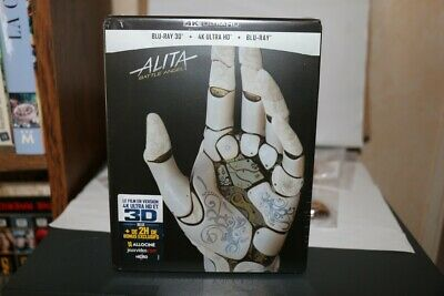 ALITA BATTLE ANGEL steelbook NEUF SOUS BLISTER bluray 3D + 4K ultra hd + bluray