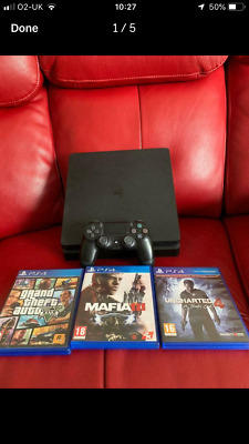 Sony PlayStation 4 Slim 500gb 1 Wireless Dualshock Genuine 3 games