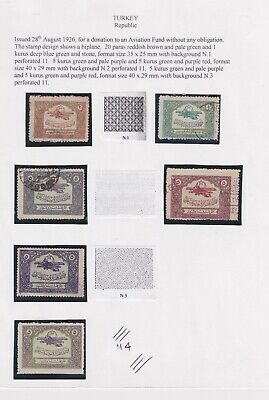 Turkey-1936 Stamps for donation to the Aviation Fund without obligation