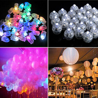 5//50 LED Balloons Lights Waterproof Glow Bulbs For Wedding Party Festival Decor