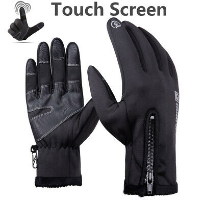 Waterproof Men Women Warm Touch Screen Liner Gloves Outdoor Sport Driving Gloves