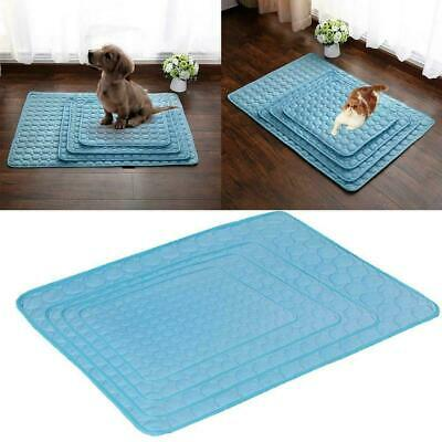Indoor Dog Cooling Mat Pet Cat Chilly Non-Toxic Summer Cool Bed Pad Cushion O2E7