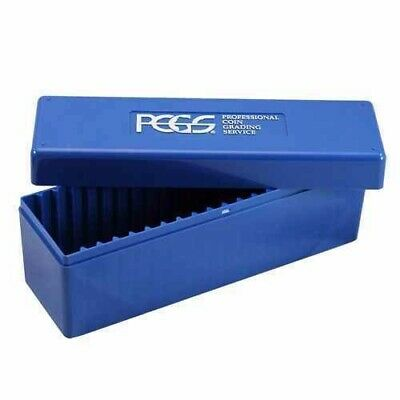 LOT OF EIGHT  (8) - PCGS Slab Boxes  - Used - Coin Slab Storage - Blue PCGS Box