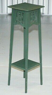 Vintage Arts & Crafts Liberty's London Jardiniere Plant Bust Stand Green Painted