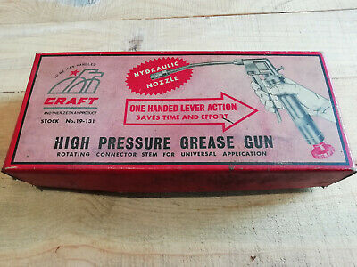 vintage craft high pressure grease gun hydraulic nozzle  boxed
