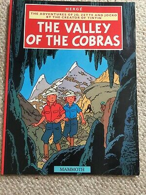 Tintin Adventures of Jo Zette and Jocko The Valley of the Cobras Herge Mammoth