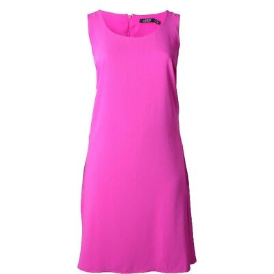 New Womens Ralph Lauren NWT Plus 20W 20 W Bright Pink Dress Sleeveless Work Play