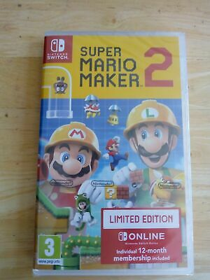 SUPER MARIO MAKER 2 LIMITED EDITION - UK PAL - Nintendo Switch - NEW & SEALED!!