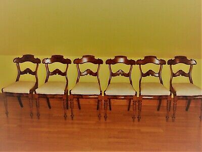 A Set Of 6 William Iv Rosewood Dining Chairs Circa 1830 Georgian Regency