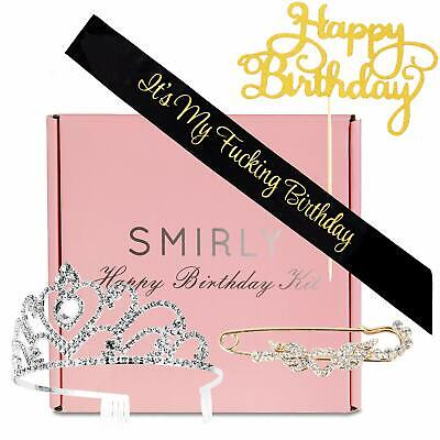 HAPPY BIRTHDAY SASH Accessories: Smirly Its My Fing with