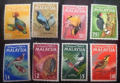 Malaysia 1965 Birds Set Of 8 To $10.00 Mint Hinged