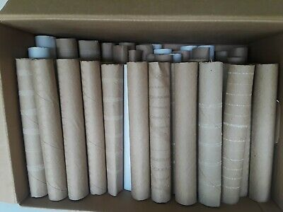 Craft Lot Of 65 Paper Towel Rolls Cardboard Tubes Clean Art Project Supplies