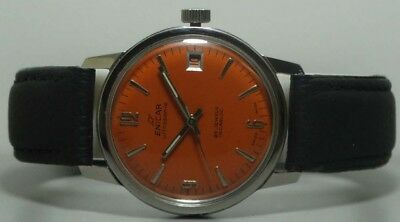 Vintage Enicar Winding Date Swiss Made Wrist Watch Old Used Antique k181 Superb