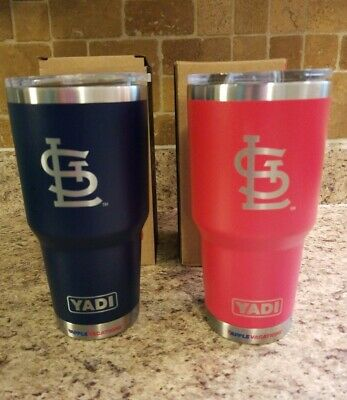 05c9589ee3e NIB St Louis Cardinals SGA Yadier Molina YADI Tumbler Set Of 2 - Red & Blue