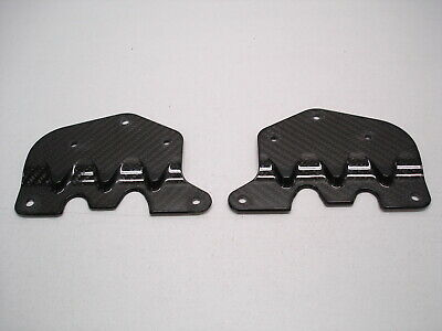 "2 NASCAR CARBON FIBER FLAT MOUNTING BRACKETS FOR BRAKE DUCTS ETC 3.75"" x 5.5"""