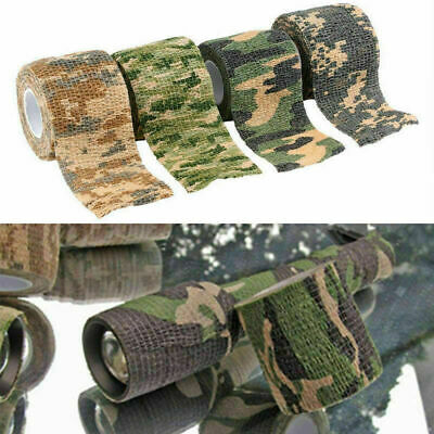 5CMx4.5M Camo Waterproof Wrap Hunting Camping Hiking Stealth Tap Camouflage A5Z3