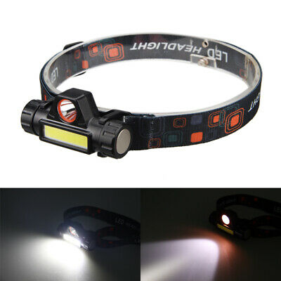 Rechargeable 2500LM Q5 LED+COB Headlamp Head Flashlight Stepless Dimming Torch