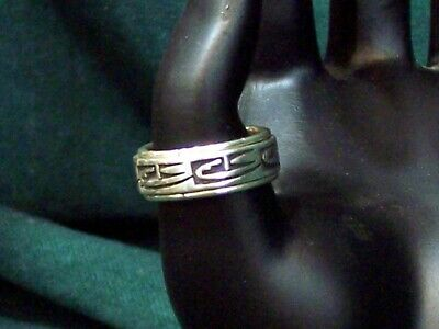 Hopi Jewelry - Contemporary Overlay Sterling Ring - Incredible!