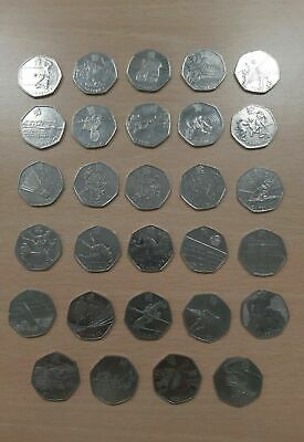 2019 NEW British Military 50p FIVE COIN SET  BUNC 50 Years Of The 50p '