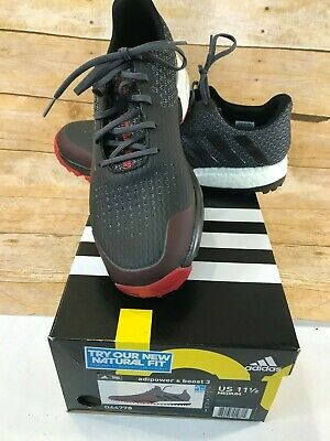 ⛳NEW IN BOX⛳ ADIDAS ADIPOWER S BOOST 3 Q44778 GOLF SHOE BLACK RED MEN'S Sz 11.5M