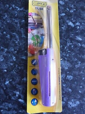 CLIPPER BBQ KITCHEN LIGHTER 'LONG STEM TUBE' GAS LIGHTER  Light Mauve