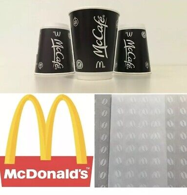 900 X McDonalds Coffee Bean Loyalty Stickers 31/12/19 expiry FLASH SALE