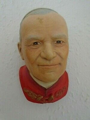 Wall Hanging Chalkware Head By Legend Products Of Pope John Paul II