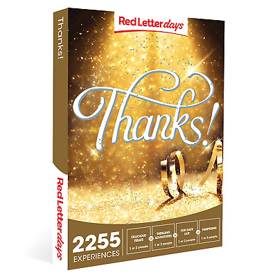 Red Letter Days Thanks! Gift Voucher – 2255 exciting thank you gift experiences