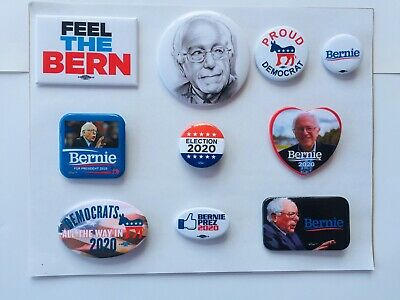 Bernie Sanders 2020 Presidential Buttons Set Of 10 - (B)