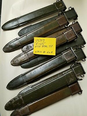 Us Gi M1 Garand M7 Scabbard With Metal Tip Marked E-Us. Item #60A