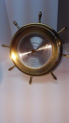 SETH THOMAS -HELMSMAN BAROMETER-SHIPS WHEEL-MODEL 1552-001-preowned