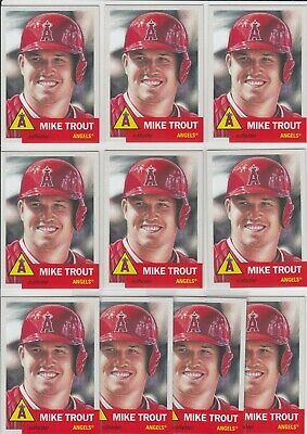 Lot of 10 2019 Topps Living Set Mike Trout #200