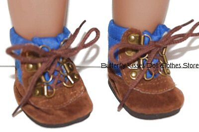 a32cd28bae0aa BROWN HIKING BOOT Shoes Boy made to fit 18 inch American Girl Doll ...