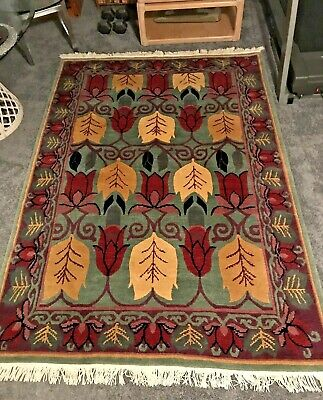 Authentic Tufenkian Art & Crafts Deco Hand Knotted Rug Carpet Gorgeous! *Ma