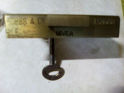 Hobbs and Co, 4 lever drawer lock, reclaimed