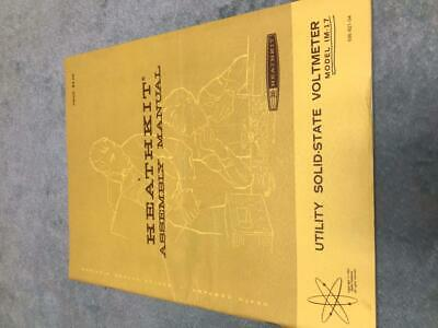 Heathkit Assembly Manual for Utility Solid-State Voltmeter Model IM-17  STK#L132