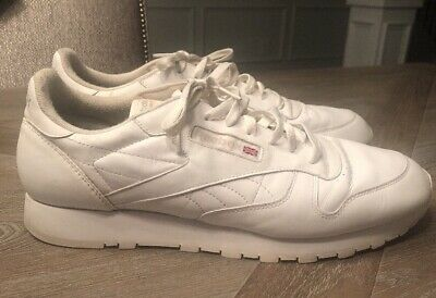 Reebok Classic Leather  059503 - White  men Athletic Shoes Size 15