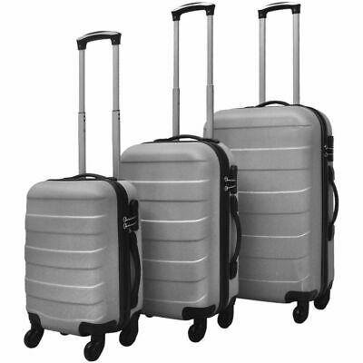 3PC Luggage Set Light Suitcase ABS Trolley Hardside Case Travel Trip Lock Silver