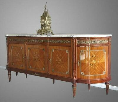 Antique  French Louis XVI Sideboard TV Stand Buffet Marble top, Beautiful