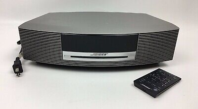 Bose Wave Music System III Silver Platinum with Remote FOR PARTS OR REPAIR