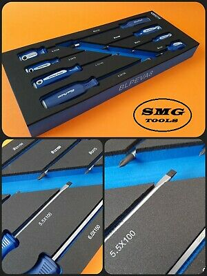 Blue Point 8pc Screwdriver Set, Brand New Tool Control Foam As sold by Snap On.