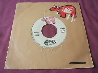 ERIC CLAPTON and his BAND PROMISES US 45 VINYL ROCK 1978 RSO RS 910 BLUES ROCK